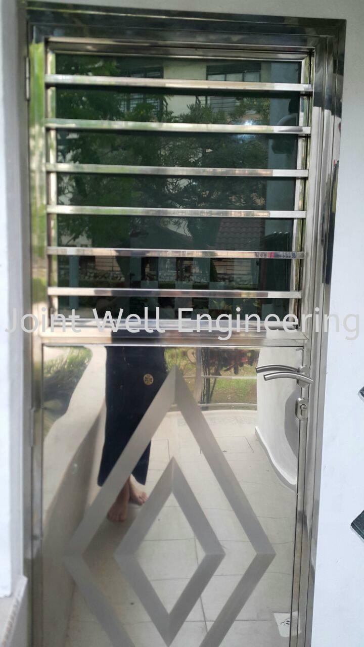 Steel Back Door With Glass Double Open back Door Safety Door