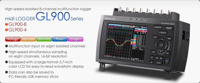 GL900 Applications Applications GL900 Series Data Acquisition Equipment