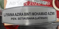 Name Plate Etching Sign Ad Sign 2020 Sdn Bhd - Signboard Maker - PUCHONG Chemical Etching Plate Signage (Stainless Steel , Aluminium)