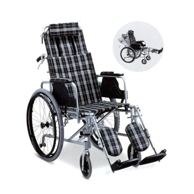 RECLINING WHEELCHAIR WITH DETACHABLE ARMREST & ELEVATING FOOTREST, HH908