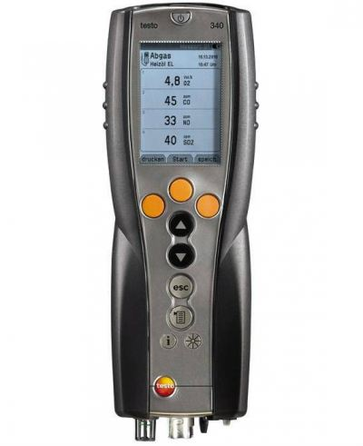 Testo 340 - Flue gas analyzer for use in industry