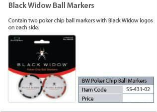 Black Widow Ball Markers