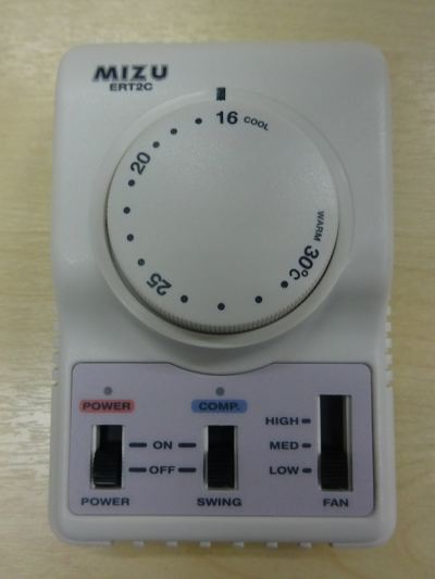 MIZU ERT2 ROOM THERMOSTAT WITH FAN SPEED (BUILT-IN 3 MINS TIME DELAY)
