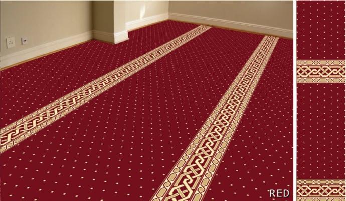 Al-Deira mosque carpet (Red)