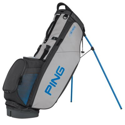 Ping 4 Series Carry Golf Bag (2016) Color:Charcoal/Light Gray/Birdie Blue