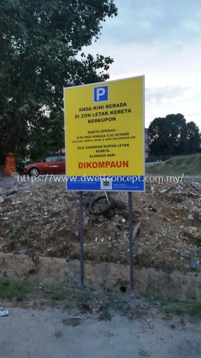 Majlis perbandaran klang(MPK) parking road sign