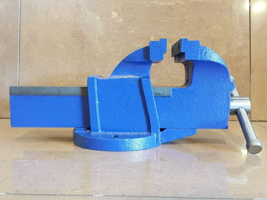 """5""""  Fixed Bench Vise Without Anvil 17kgs ID30734"""