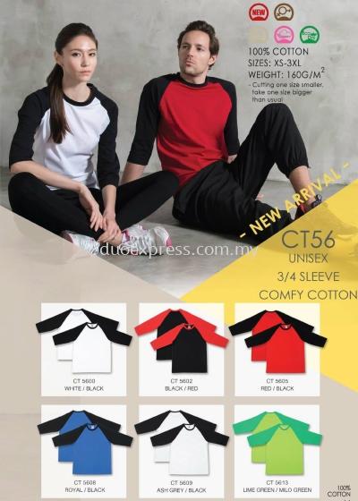 Roundneck Cotton T-Shirt ( Raglan )CT-56