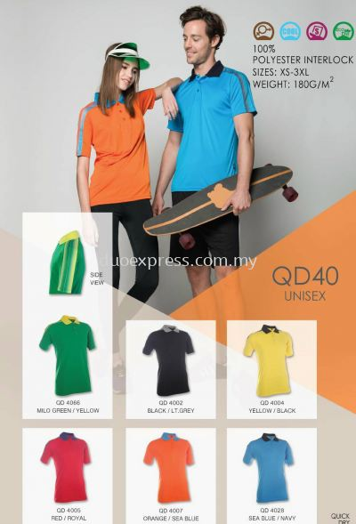 Polo T Shirt MicroFibre- Ready Made QD-40