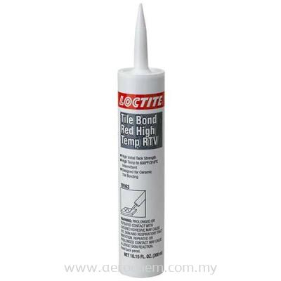 Loctite Tile Bond Red, High Temp RTV Silicone Adhesive Sealant