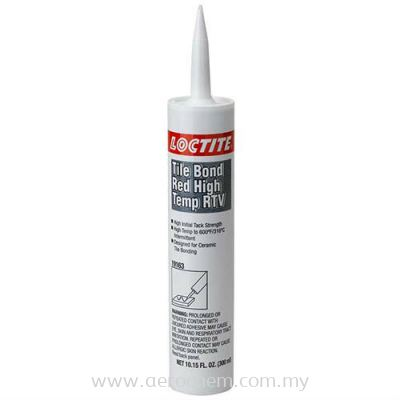 Loctite Tile Bond Red, High Temp RTV Silicone Adhesive Sealant