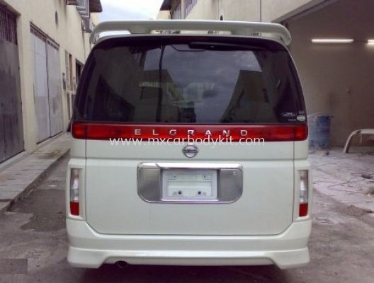 NISSAN ELGRAND 2005 E51 J-EMOTION DESIGN REAR SKIRT