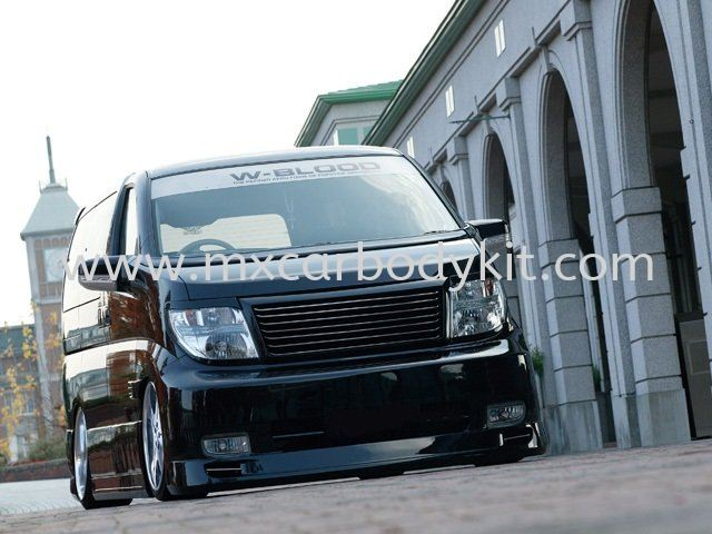 NISSAN ELGRAND 2005 E51 W-BLOOD STYLE FRONT BUMPER ELGRAND 2005 NISSAN