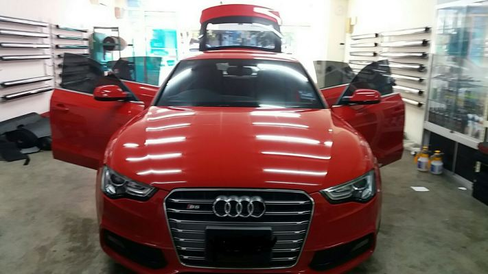 3) Audi A5 Car Tinted - ASWF Charcoal 15