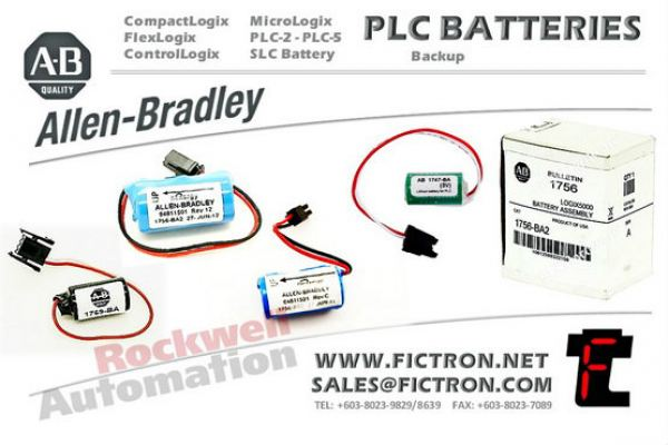 1769-BA2 CompactLogix Controllers Lithium Battery AB - Allen Bradley - Rockwell Automation �C PLC Systems Back-up Battery Supply Malaysia Singapore Thailand Indonesia Philippines Vietnam Europe & USA