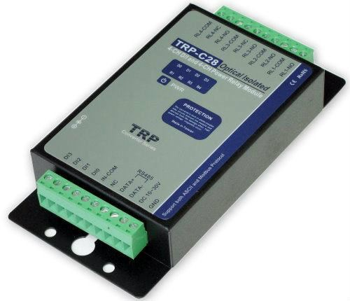 TRP-C28 Isolated 4 CH. DI and 4 CH. AC Relay RS485 Module Data Communication