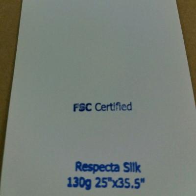 """Respecta Silk 130g 25""""x35.5"""""""