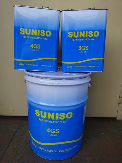 SUNISO GS Series (3GS / 4GS / 5GS / 4SA / 4HT) Refrigeration Oils (SUNOCO JAPAN) New Packaging