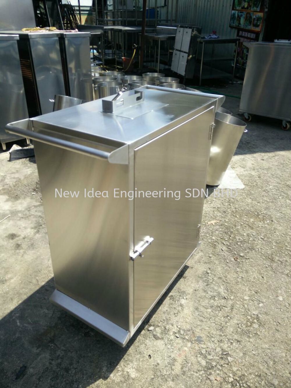 Stainless Steel 304 4B finish movable Cabinet with ESD