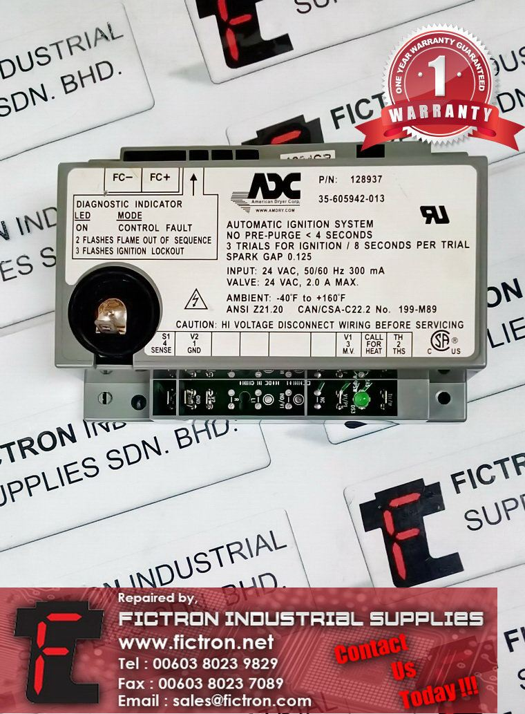 Repair Service Malaysia - 35-605942-013 128937 ADC Automatic Ignition System Singapore Indonesia ADC  Repair Services