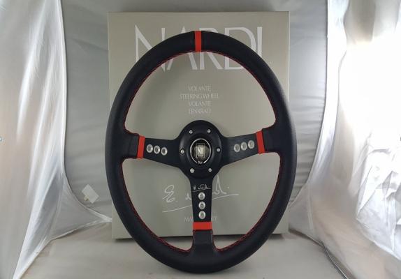 """NARDI STEERING 14"""" PVC 5158 BLACK (S/N:002657)"""