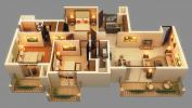 Floor Plan Interior Design 3D Plan