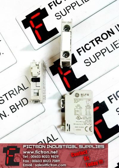 BCLF10 GE GENERAL ELECTRIC 600V Switch Contact Block 1 Pole Auxiliary Contact Supply Malaysia Singapore Thailand Indonesia Philippines Vietnam Europe & USA