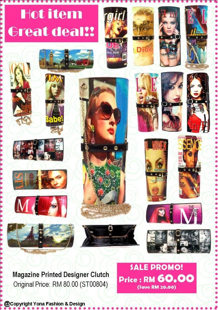 PROMO ITEM!!Magazine Clutch Printed Design (Multicolor)