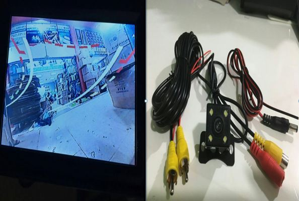 REVERSE CAMERA RC-40 SQUARE WITH 4 LED FOR REAR USE (S/N:002686)
