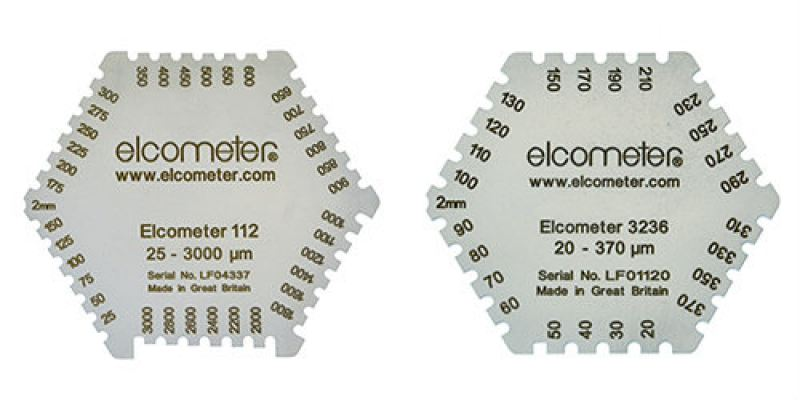 Elcometer 112 & 3236 Hexagonal Wet Film Combs