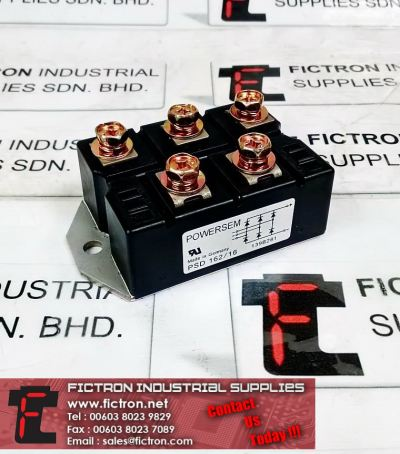 PSD 162/16 162-16 POWERSEM 3-Phase Bridge Rectifier Power Module Supply Malaysia Singapore Thailand Indonesia Philippines Vietnam Europe & USA