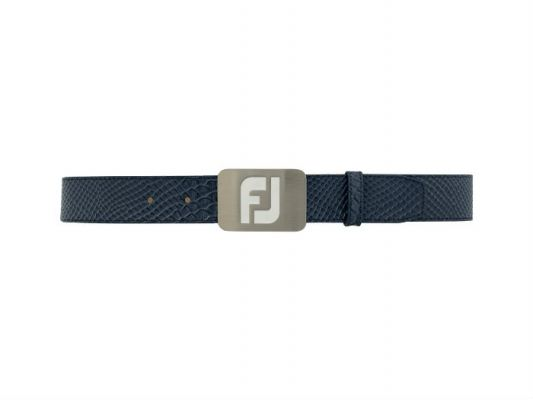 FJ Leather Belts - New Snake Print #69367 Navy Snake