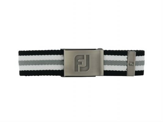FJ Canvas Belt - New #69365 Black / White / Grey