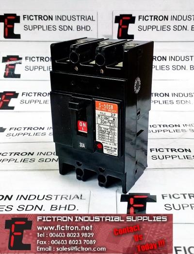 S-50SB HITACHI Fuse-Free Circuit-Breaker 3P 30A 600VAC Supply Malaysia Singapore Thailand Europe & USA