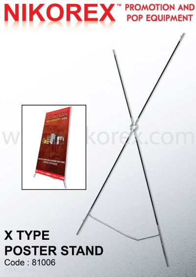 81006 - X TYPE POSTER STAND