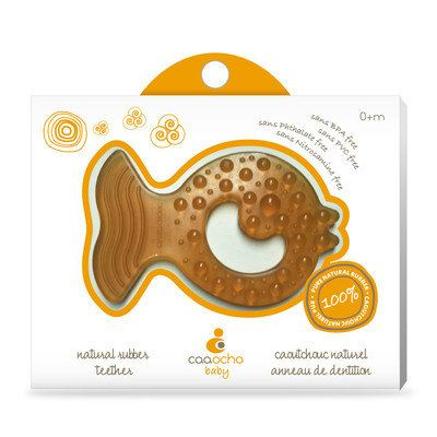 CAAOCHO NATURAL FISH RUBBER TEETHER CA7001