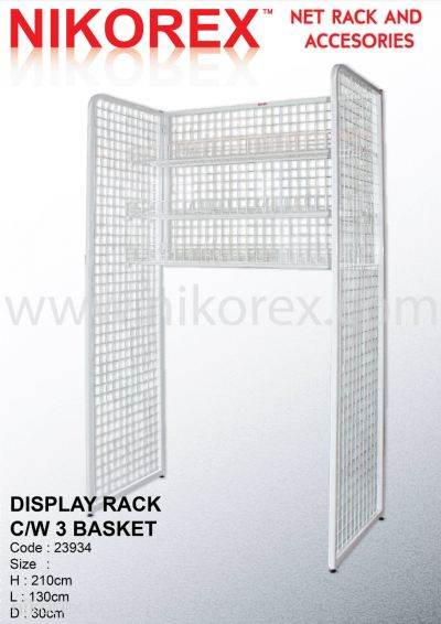 23934-210HX130LX30CMD DISPLAY RACK C/W 3 BASKET