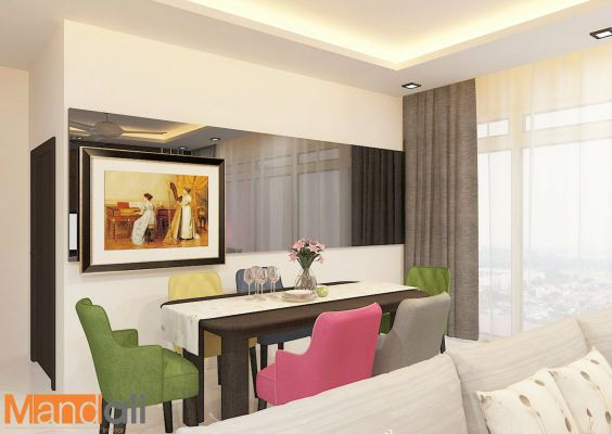 Dining Area Design Paragon Residence
