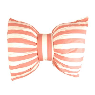 Striped Bow Pillow