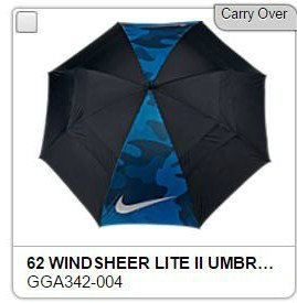 Nike Windsheer Lite Black Blue Voltage Golf umbrella