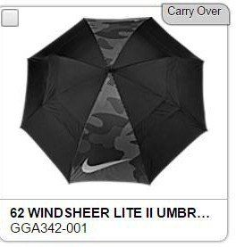Nike Windsheer Lite Black Gray Voltage Golf umbrella