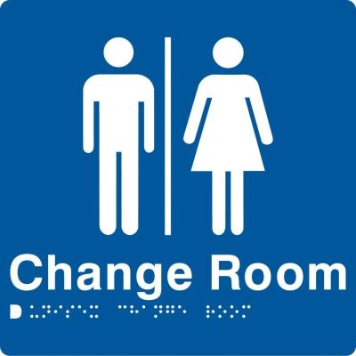 Braille sign Change Room