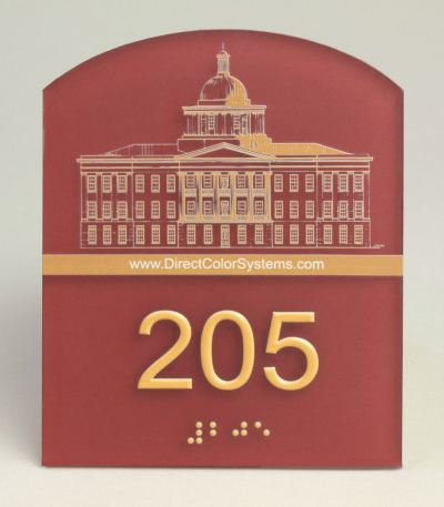 Braille sign house number