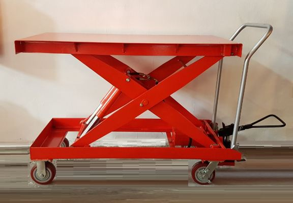 1Ton Double Pump Table Lift Cart Jack ID223432