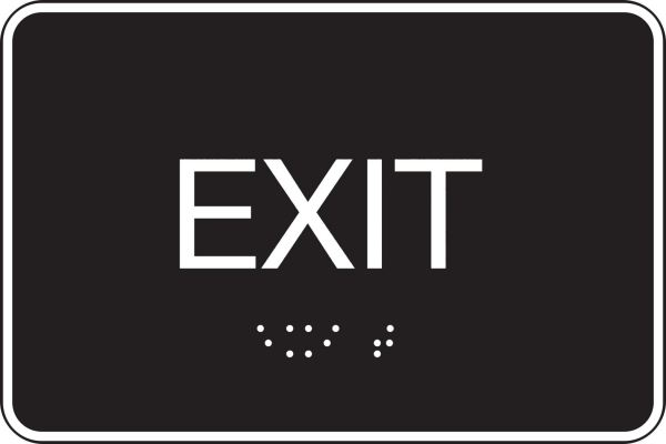 Braille sign Exit