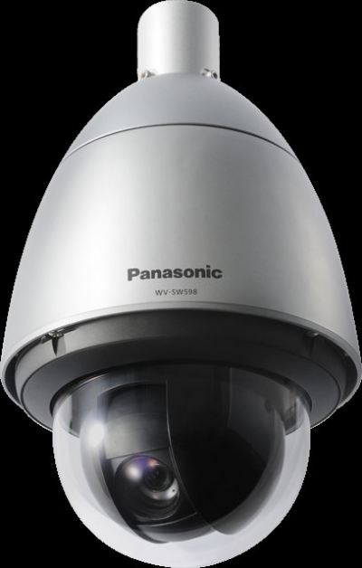 PANASONIC SUPER DYNAMIC WEATHER RESISTANT FULL HD PTZ DOME NETWORK CAMERA.WV-SW598