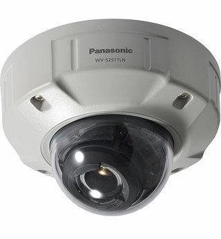 PANASONIC SUPER DYNAMIC HD VANDAL RESISTANT & WATERPROOF DOME NETWORK CAMERA.WV-SC2511LN