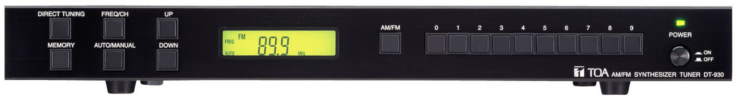TOA AM/FM SYNTHESIZER TUNER.DT-930 UL