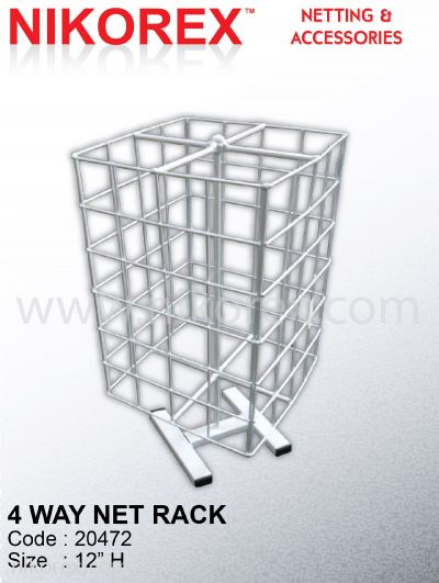 529052 - 4 SIDED SQUARE NET RACK 1'H