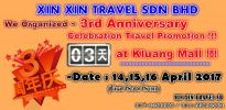 ❀�����������޹�˾Ϊ�������3���꼴����KluangMall�ٰ쳬�Ż�����չ ����3rd Anniversary Celebration Travel Promotion at Kluang Mall